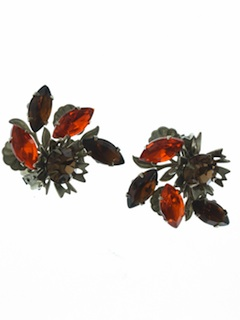 1950's Womens Accessories - Clip on Earrings