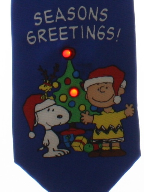 1990's Mens Accessories - Lightup Peanuts Christmas Necktie