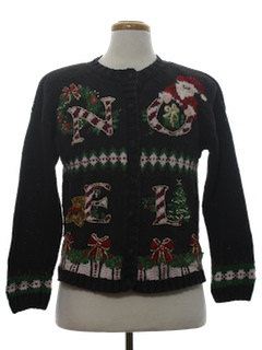 1980's Womens NO EL Ugly Christmas Sweater
