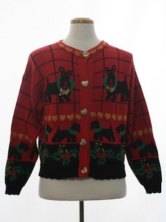 1980's Womens Vintage Dog-Gonnit Ugly Christmas Sweater
