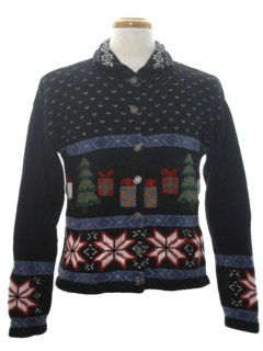 1980's Womens Classic Christmas Sweater