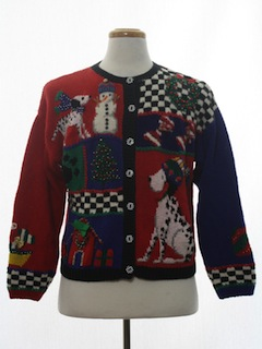 1980's Womens Dog-gonnit Ugly Christmas Sweater