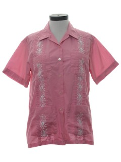 1980's Womens Guayabera Shirt