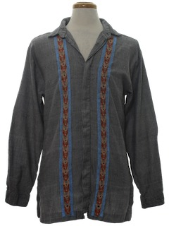 1970's Mens Hippie Tunic Shirt