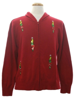 1980's Unisex Hoodie Minimalist Ugly Christmas Sweater