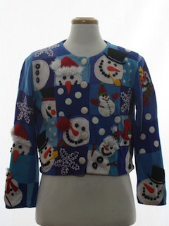 1980's Womens Designer Ugly Christmas Sweater