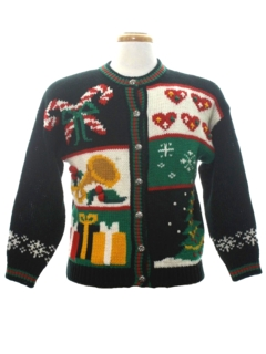 1980's Womens Vintage Country Kitsch Ugly Christmas Sweater