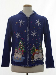 1980's Womens Hoodie Ugly Christmas Sweater
