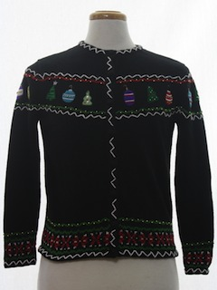 1980's Womens Classic Style Ugly Christmas Sweater