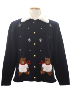 1990's Womens Bear-riffic Ugly Christmas Sweater