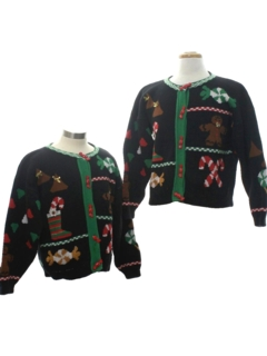 1980's Womens Vintage Matching Set of Ugly Christmas Sweaters