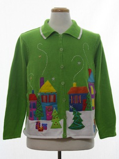 1990's Womens Real Estate Agent Ugly Christmas Sweater