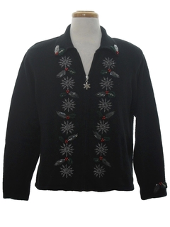 1980's Womens Ugly Christmas Snowflake Sweater