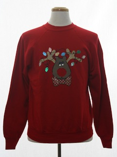 1990's Unisex Puffy Painted Ugly Christmas Sweatshirt