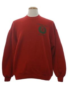 1990's Unisex Vintage Phi Kappa Alpha Fraternity Ugly Christmas Sweatshirt