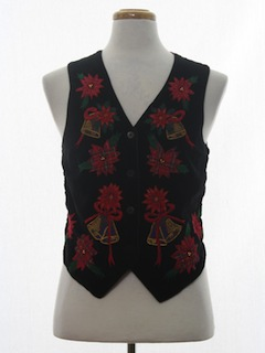 1980's Womens Ugly Christmas Vest to Wear with Your Sweater