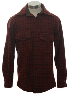 1950's Mens Wool Sport Shirt
