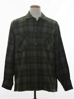 1960's Mens Wool Sport Shirt