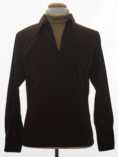 1960's Mens Mod Knit Shirt