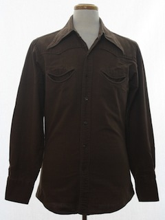 1960's Mens Hippie Western Shirt