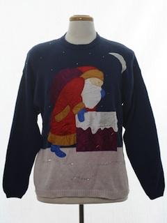 1980's Unisex Vintage Designer Ugly Christmas Sweater