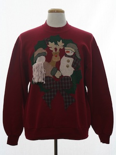 1990's Unisex Country Kitsch Ugly Christmas Sweatshirt