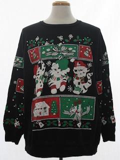 1980's Unisex Cat-Tastic Vintage Ugly Christmas Sweatshirt