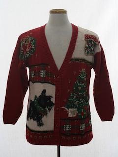 1980's Unisex Dog-gonnit Ugly Christmas Cardigan Sweater