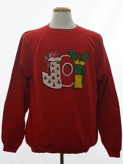 1980's Unisex -JOY- Ugly Christmas Sweatshirt