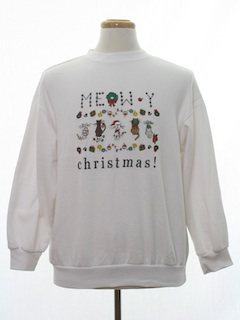 1990's Unisex Cat-Tastic Ugly Christmas Sweatshirt