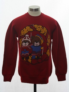 1980's Unisex Ladies or Boys Bear-riffic Ugly Christmas Sweatshirt