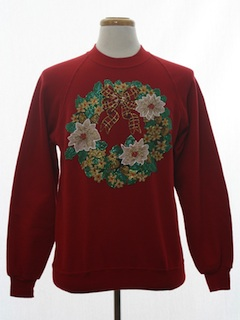 1980's Unisex Puffy Painted Ugly Christmas Sweatshirt