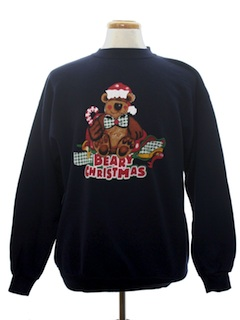 1990's Unisex Bear-riffic Ugly Christmas Sweatshirt