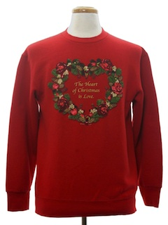 1980's Unisex Country Kitsch Ugly Christmas Sweatshirt