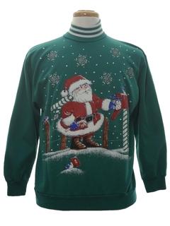 1980's Unisex Vintage Ugly Christmas Sweatshirt