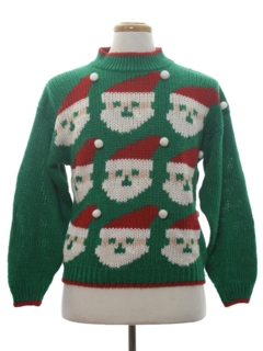1980's Womens Mod Vintage Ugly Christmas Sweater