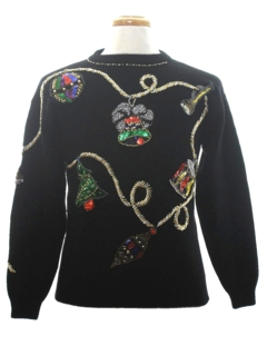 1980's Womens Ugly Christmas Cocktail Sweater
