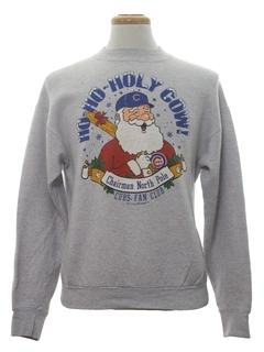 1990's Unisex Vintage Cubs Ugly Christmas Baseball Sweatshirt