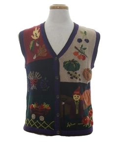 1980's Womens Kitschy Ugly Halloween Sweater Vest
