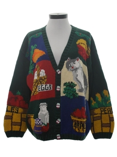 1990's Womens Cheezy Kitschy Ugly  Sweater