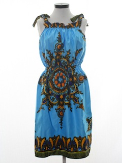1970's Womens Halter Hippie Dress