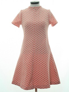 1970's Womens Brady Bunch Dress