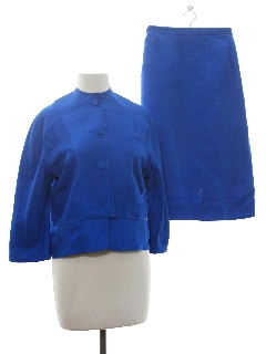 1960's Womens Blended Silk Suit