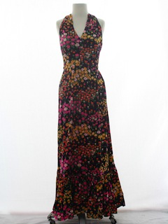 1960's Womens Hippy Halter Dress