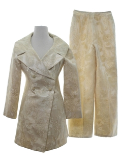 1960's Womens Jacket & Slacks Suit