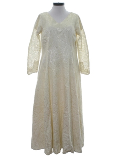 1950's Womens Wedding Maxi Dress