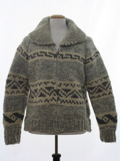 1970's Unisex Bulky Knit Sweater Jacket
