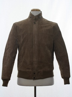 1980's Mens Suede Leather Bomber Jacket
