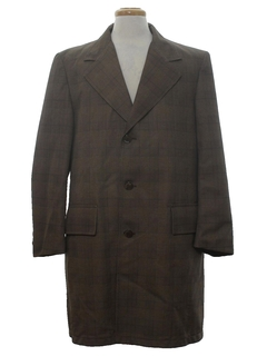 1970's Mens Mod Overcoat Jacket