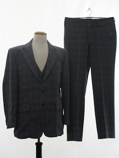1980's Mens Disco Style Three Piece Suit